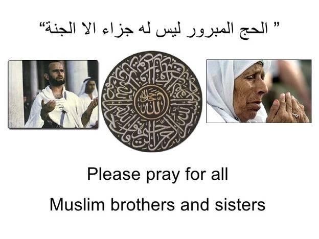 Pray for all Muslim