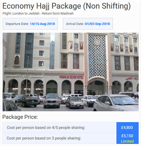 Economy Hajj package