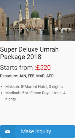super deluxe umrah package