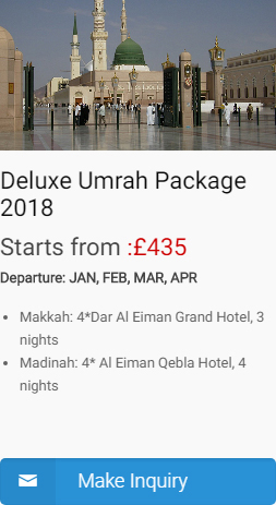 Deluxe Umrah Packages