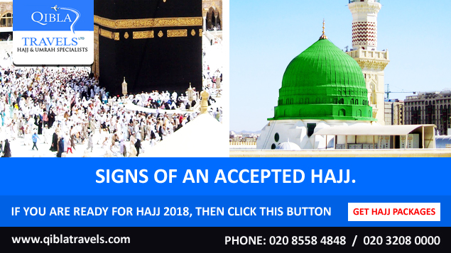 Signs of an accepted Hajj