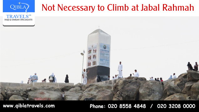 Not Necessary to Climb at Jabal Rahmah